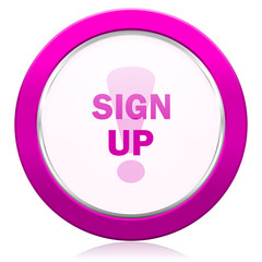 sign up violet icon