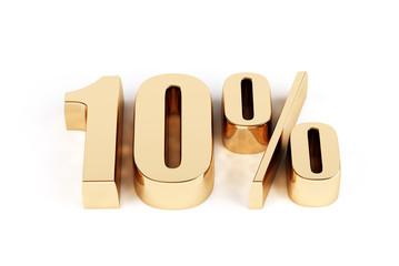 3d render of a gold 10 percent