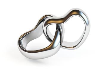Wedding rings isolated