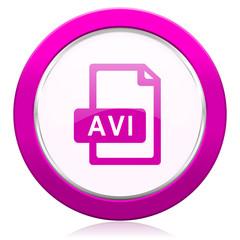 avi file violet icon