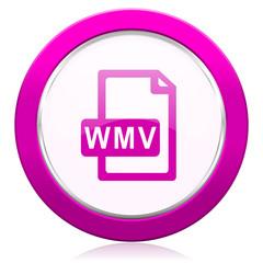 wmv file violet icon