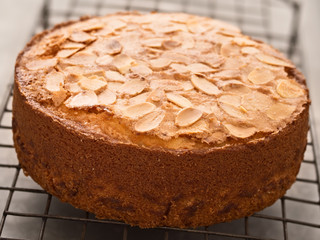 rustic swedish almond cake