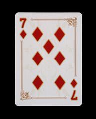 Spielkarten - Poker - Karo Sieben im Spiel