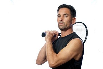 Confident posture is part of the mental game of tennis