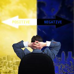 Man positive thinking.