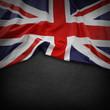 Union Jack flag on dark background - 78670148
