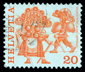 Switzerland 20 cent postage stamp