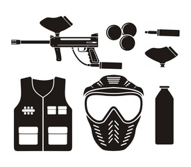 paintball equipment - pictogram