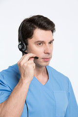 doctor with headphones