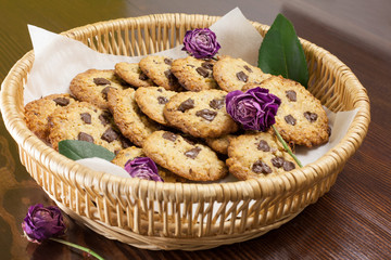 Chocolate Chip Cookies in basket