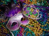Mardi Gras Mask on dark Background