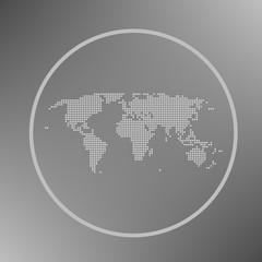 simple vector world map theme