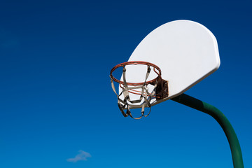 Outdoor basketball goal in park