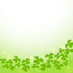 St. Patrick's Day Background with shamrock leaves