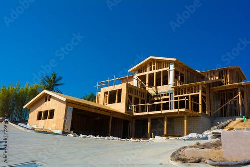 Leinwanddruck Bild New house construction