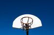 canvas print picture - Outdoor basketball goal in park