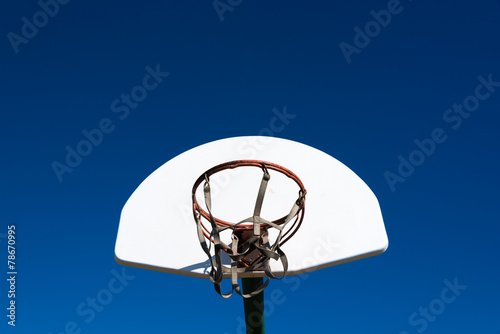 canvas print picture Outdoor basketball goal in park