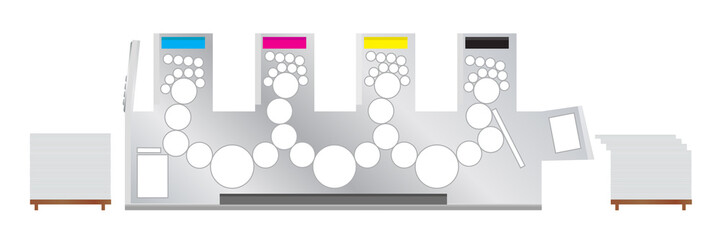 Printing machine - offset printing press