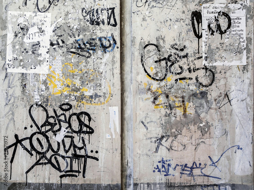 Leinwanddruck Bild Grunge Wall Texture Background in Bangkok