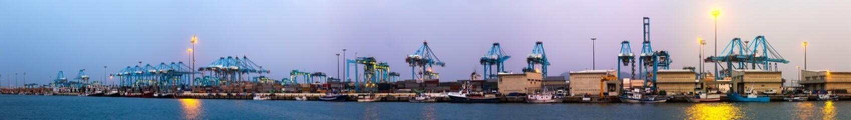 Evening view of  Port of Algeciras