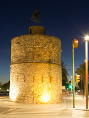 Old tower at seaside of Vilanova i la Geltru