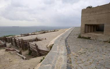 Seddul Bahir Old Fort at Gallipoli, used for WWI operations