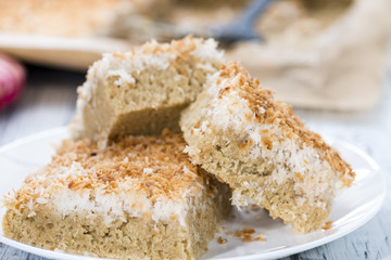 Fresh baked Coconut Cake