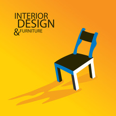 Chair, Interior and Furniture design (Vector Art)