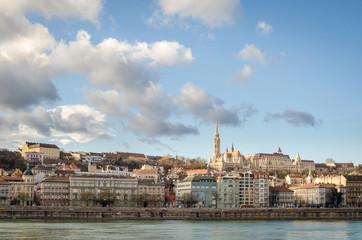 Budapest, view on Danube and Buda with Matthias Church