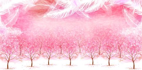 桜 羽 背景