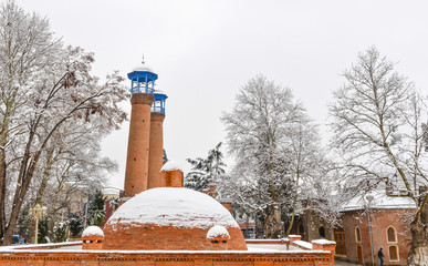 mosque in winter
