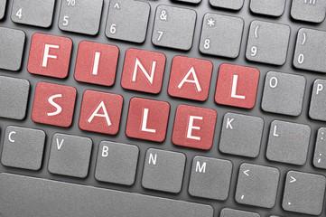 Final sale key on keyboard