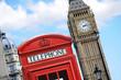 Obrazy na płótnie, fototapety, zdjęcia, fotoobrazy drukowane : Red telephone box and Big Ben in London