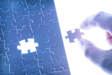 Business success, jigsaw puzzle concept