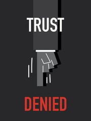 Words TRUST DENIED