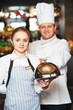 waitres and chef in restaurant