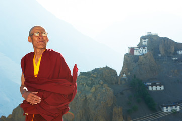 Indian tibetan monk lama