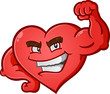 Heart Flexing Muscles Cartoon Character - 78676708