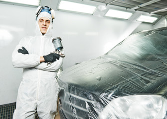 car repair painting in chamber