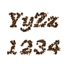 coffee seed font
