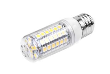 energy-saving LED lamp isolated on white background.