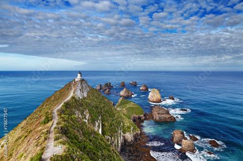 Fotobehang Nieuw Zeeland Nugget Point Lighthouse, New Zealand