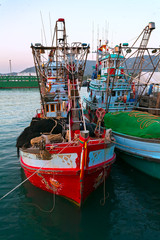 fishing boat in the port