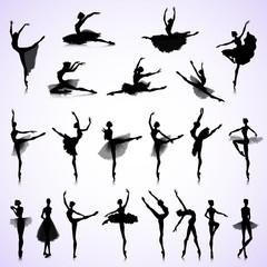Set of female ballet