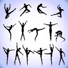 Set of male ballet dancers