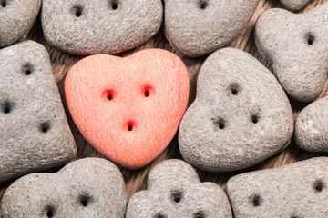 Heart-shaped doggy treats