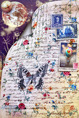 Scrapbook and old stamps series