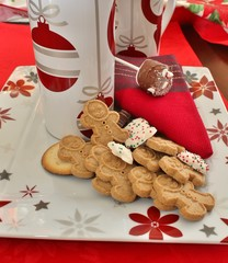 Gingerbread cookies and a cup of hot chocolate.