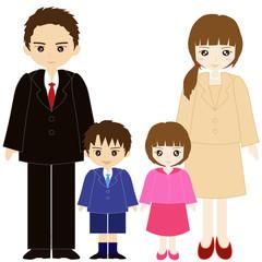 両親と息子と娘の親子