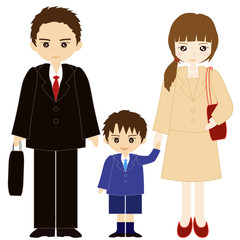 両親と息子の親子